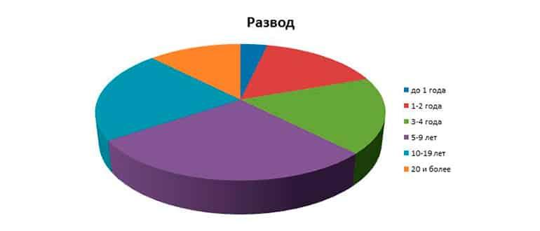 Статистика разводов в первый год брака фото